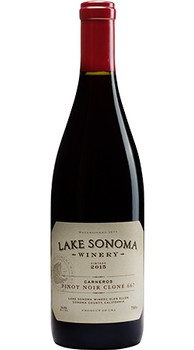 2015 Lake Sonoma Winery Pinot Noir Clone 667, Carneros