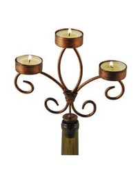 Bottle Candelabra Copper