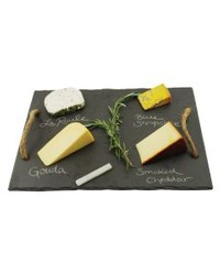 Cheese Board Slate & Rope